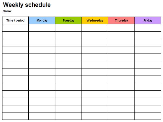Weekly Planner Template,