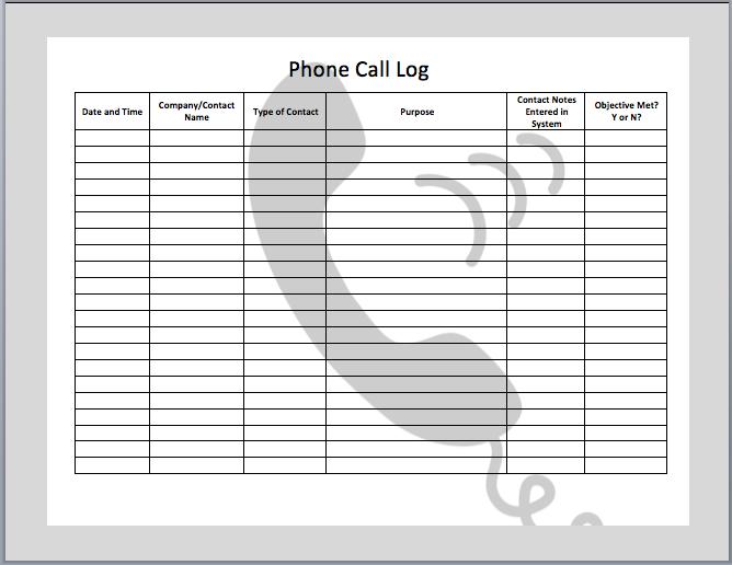 phone-call-log-template
