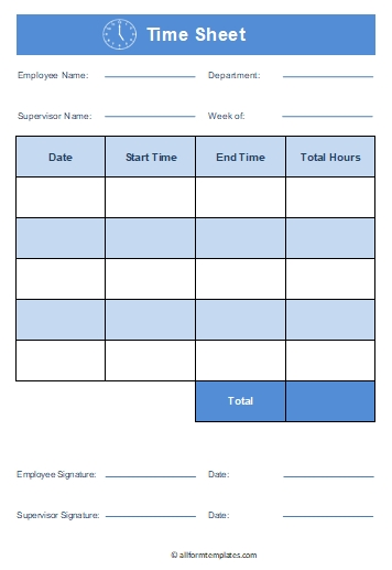 Time-Sheet-Template