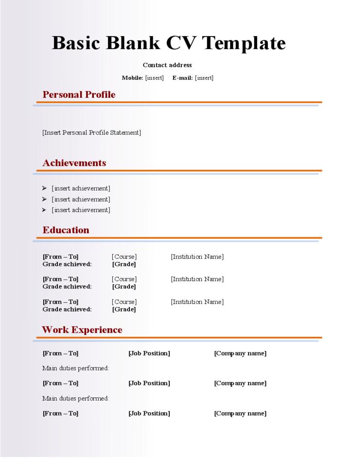 basic-blank-cv-resume-template-for-fresher-l1