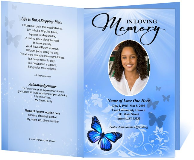 free funeral program template - funeral program template funeral order of service all