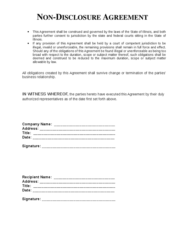 Non disclosure agreement template nda all form templates for Cda agreement template