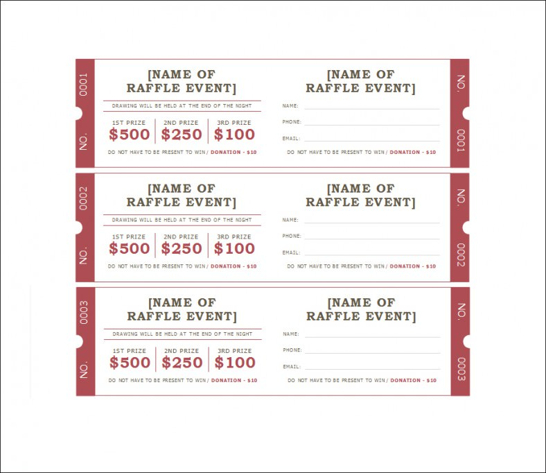 ticket template raffle ticket template all form templates. Black Bedroom Furniture Sets. Home Design Ideas