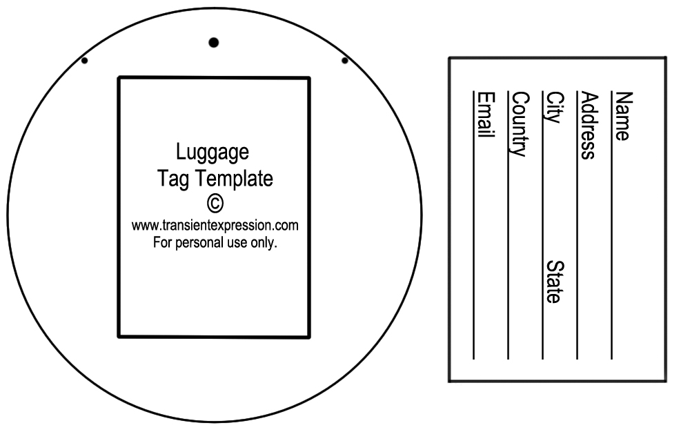 luggage tag template luggage tags all form templates. Black Bedroom Furniture Sets. Home Design Ideas
