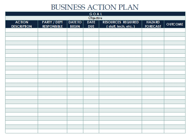 Business-Action-Plan-Template
