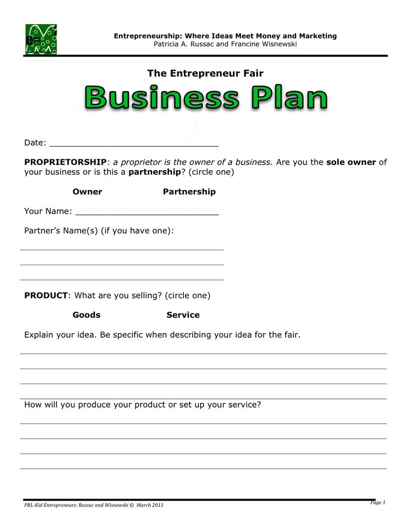 Free Business Plan Templates Samples 40 Formats And Examples