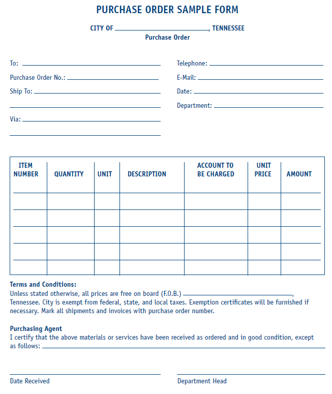 15+ Samples Of Purchase Order Templates In Word, Excel, And PDF Formats U2013  All Form Templates  Po Form Template