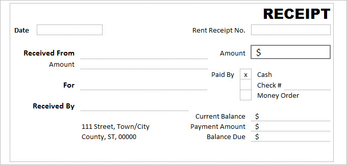 Introduction Of Receipt Template