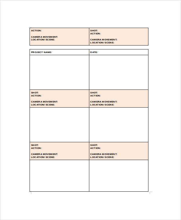 project storyboard sample