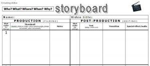 production storyboard sampl