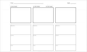 storyboard templates word