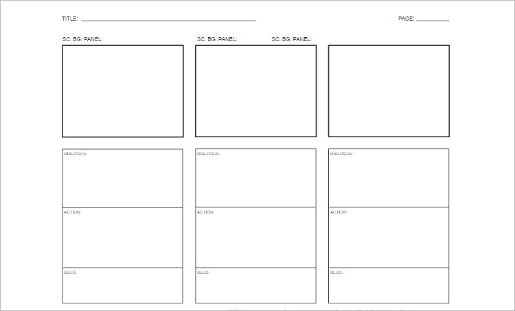 storyboard templates word
