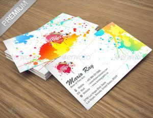 Art Color Business Card Template