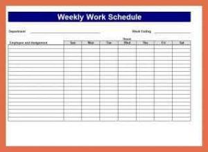 Bi-Weekly Work Schedule Excel Template