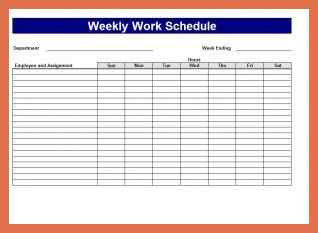 Bi-Weekly Work Schedule Excel Template