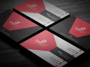 Clean and Modern Tricolor Business Card Template