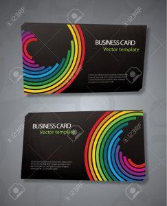 Creative Color Spectrum Business Card Template