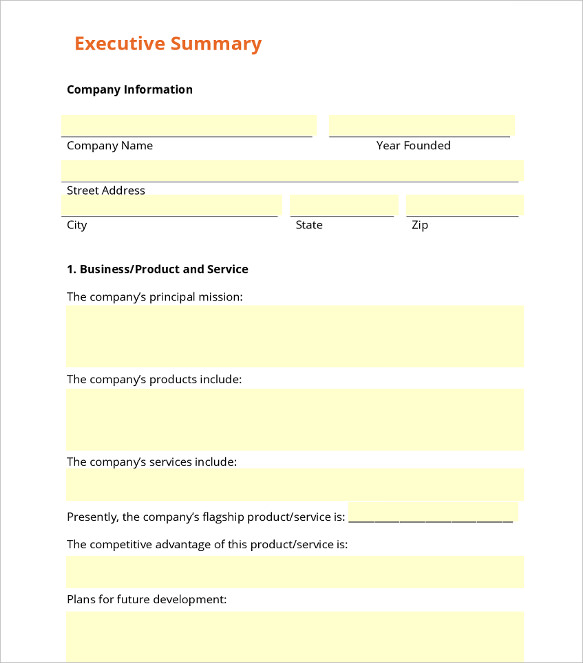 executive summary templates 15 examples and samples all form