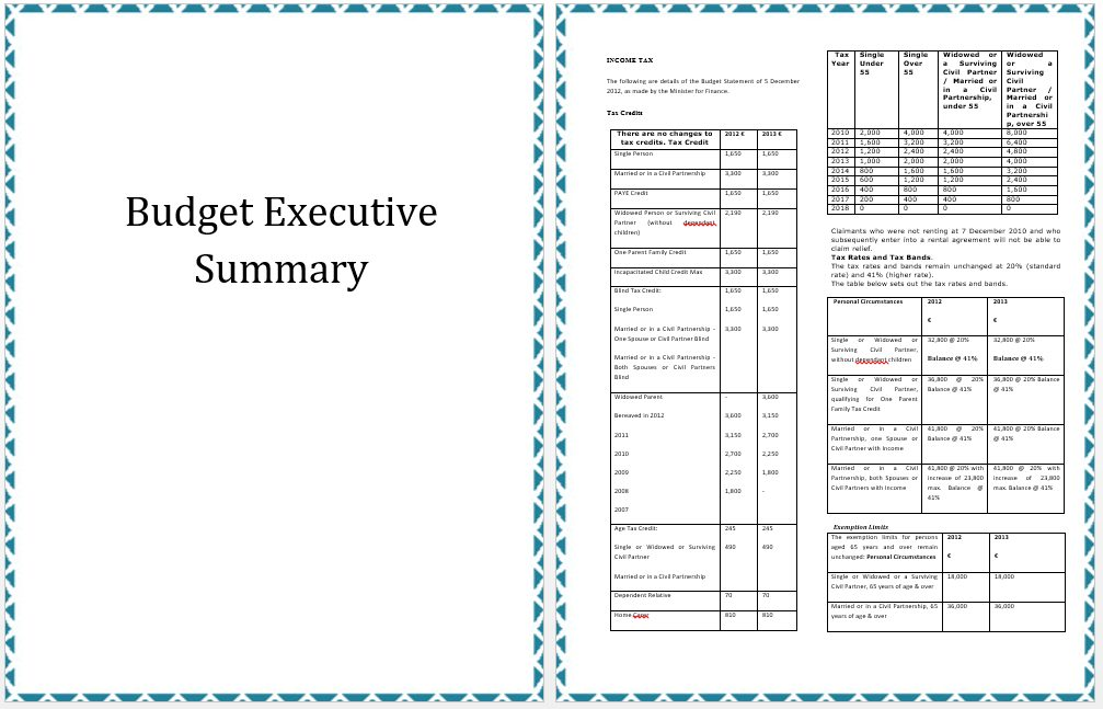 Executive-Summary-Annual-Budget-Template