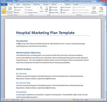 Hospital Marketing Plan Template