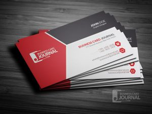 Modern Tricolor Business Card Template for Professional