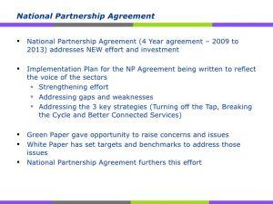 National Partnership Agreement