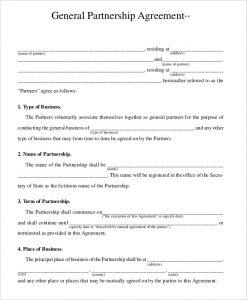 Partnership Agreement Contract