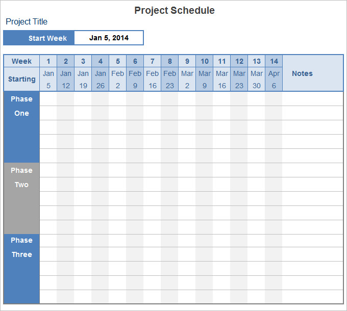 project schedule templates20 formats examples amp guide