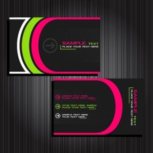 Simple Colorful Business Card Template