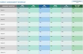 Weekly Assignment Schedule Template