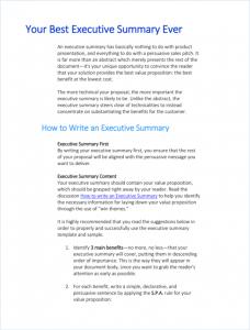 Writing-Executive-Summary-Template-