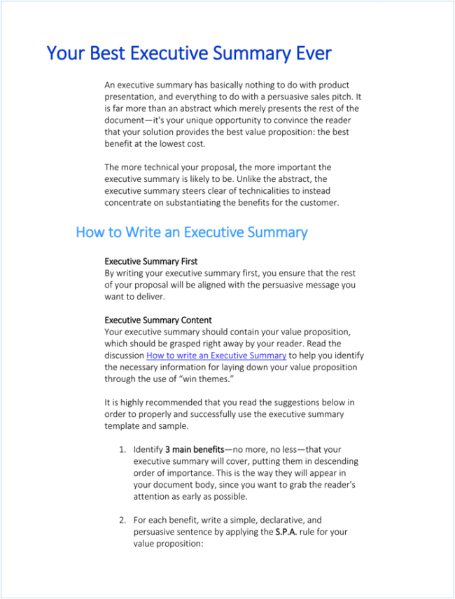 Writing-Executive-Summary-Template-