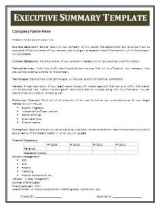 Executive Summary Template for Market Research