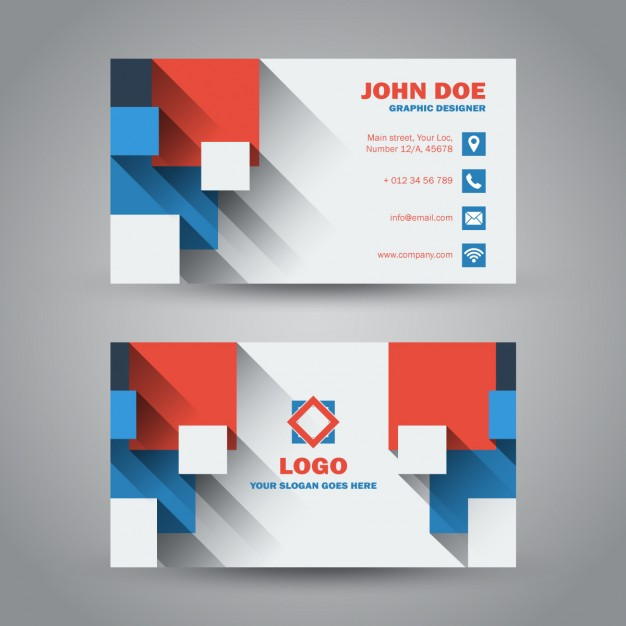 flat-modern-business-card-with-long-shadow
