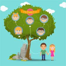Family Tree Vector Templates