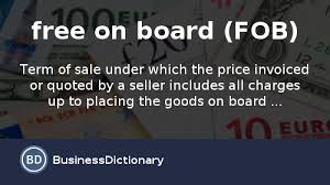 Free On Board (FOB) Price Quotation