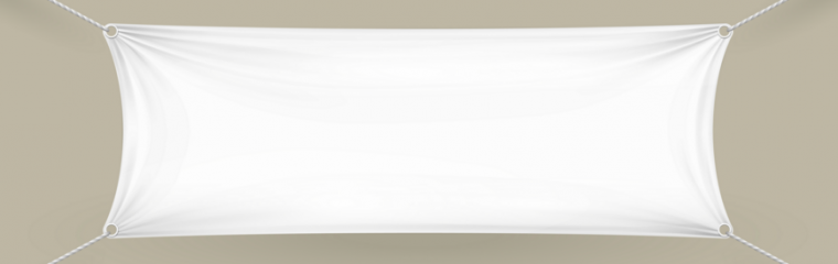 Hanging Blank Banner Template