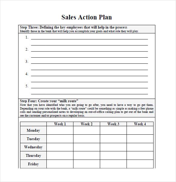 Planning sales plan templates