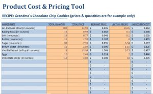 Product pricing worksheet Template