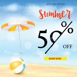 Summer Vacation Ad Banner Template