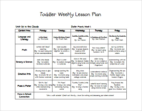 Free Lesson Plan Templates 20 Word Pdf Format Download All Form