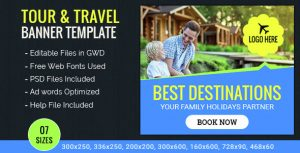 Travel Ad Banner Template