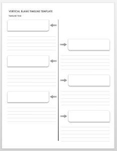 Vertical Blank Timeline Template