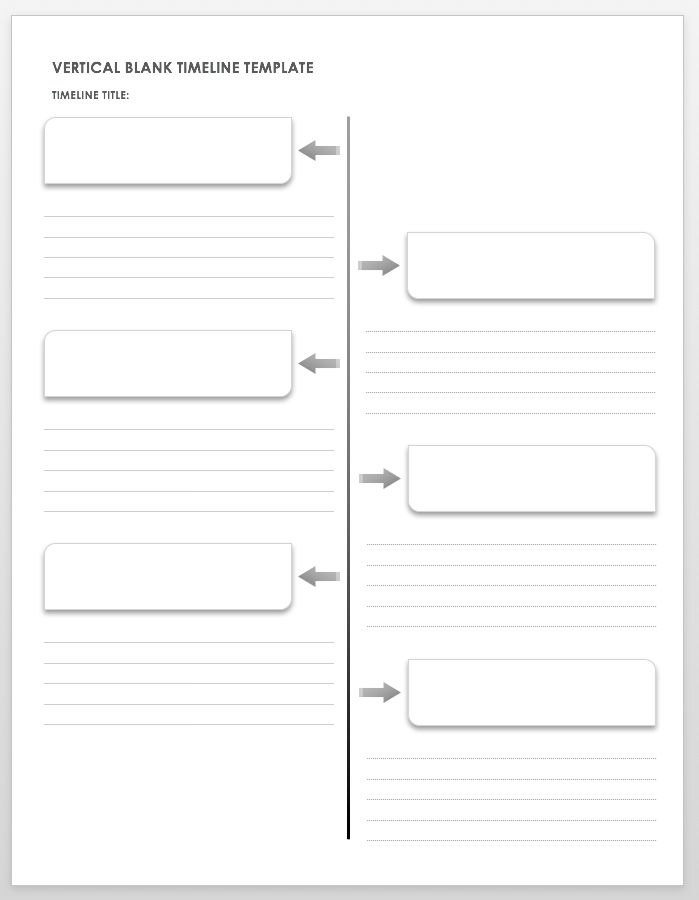 Vertical Blank Timeline Template