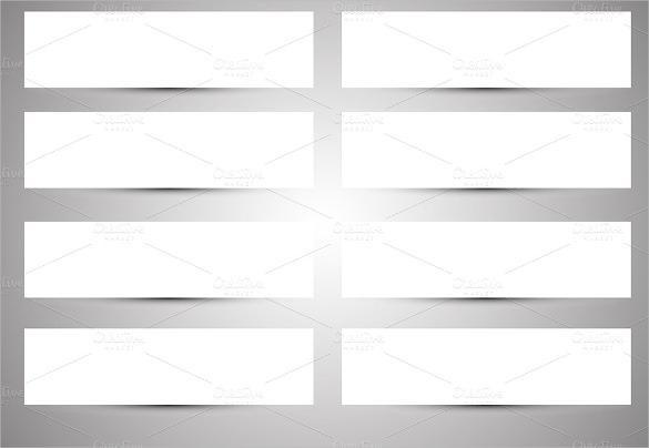 White Blank Banner Template