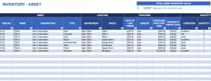 asset inventory template