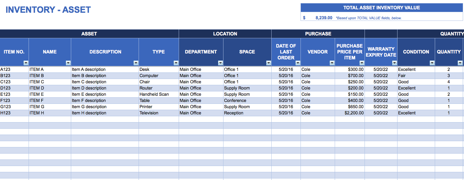 15+ Samples of Inventory Templates in word, Excel And PDF ...