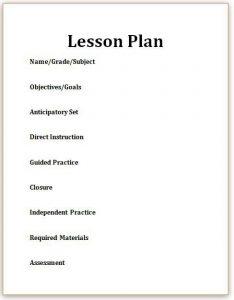 effective lesson plan