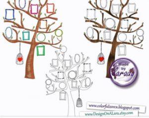 family photo frame tree