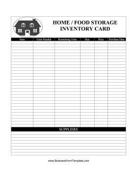 food supply inventory template